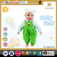 Fashion stuffed toy 16 inch 4 voice baby vinyl doll