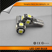 China auto lighting factory LED bulb CANBUS 12VDC Auto Lamp Reading Light T10 5SMD 5050 Car Led indoor light