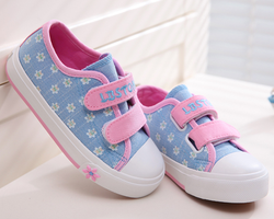 FC2467 New Popular Fashion Wholesale Kids Canvas Shoes With Print Upper