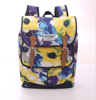 Fashion Multi-functional Backpack Cotton Printing Mummy Diaper Bag