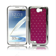 2014 wholesale ,PC ,waterproof ,fashion mobile silver plating rhinestone phone case for smart phone