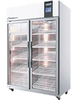 Indirect cooling silicon molding industrial glass door freezer refrigerator