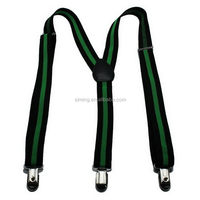 High quality exported custom printing brown suspenders braces