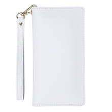 Landscape supply card holder white PU leaher ladies universal case with wrist rope