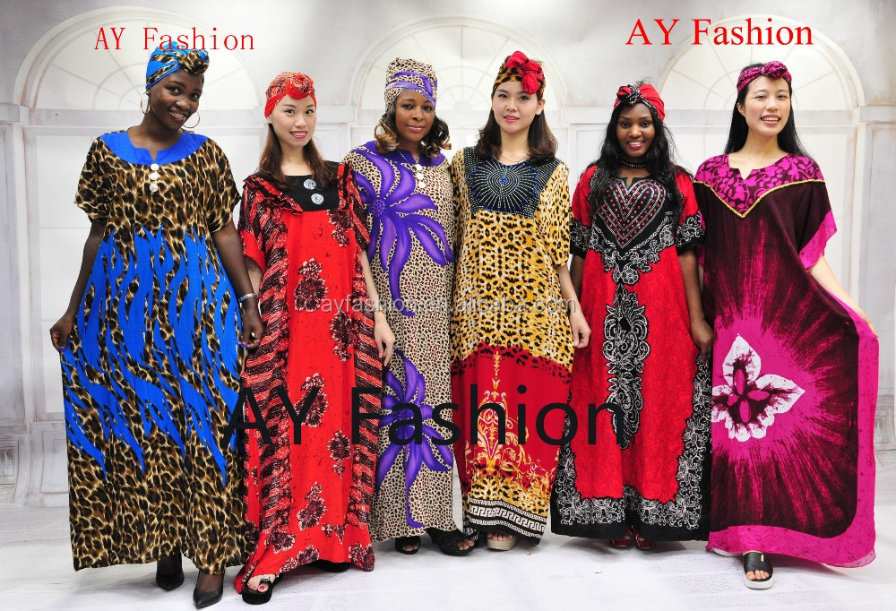 Fancy printing hot sale customed kitenge dress designs for african women