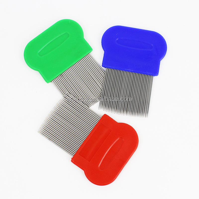 Stainless Steel Needles Fine-tooth Lice Removal Combs For Pets