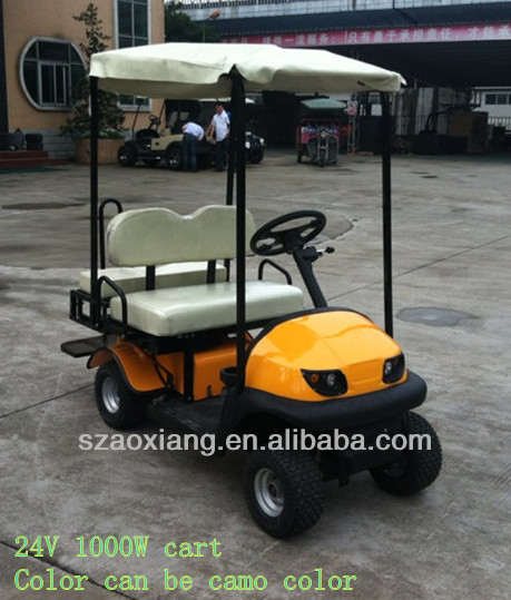 New Custom Electric Golf Cart with folding steering wheel and stretch body