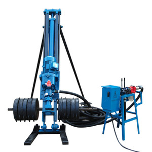 15m depth electric & pneumatic small rock drill/mining drilling rig(KQD70B) for sale