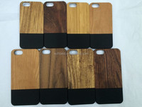 2015 New Products Exclusive Products PC Wood Case for iPhone 6 Plus Half PC Half Wood Case