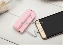 2600mAh Portable Power Banks with Built-in Cables