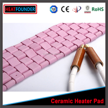 insulated flexible ceramic heating pad with metal cover