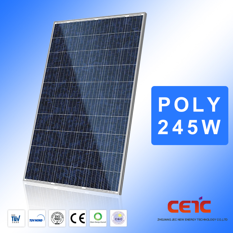 High Efficient Photovoltaic 245W Poly Solar Panel Roofing Solar Panels For Solar Power Plant