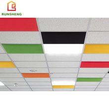 Colorful wholesale high quality acoustic ceiling tiles grids,polyester fiber board