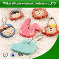 multi-design good quality soft silicone key chain