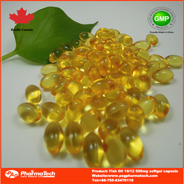 Health food Omega 3 fish oil 500mg softgel capsule