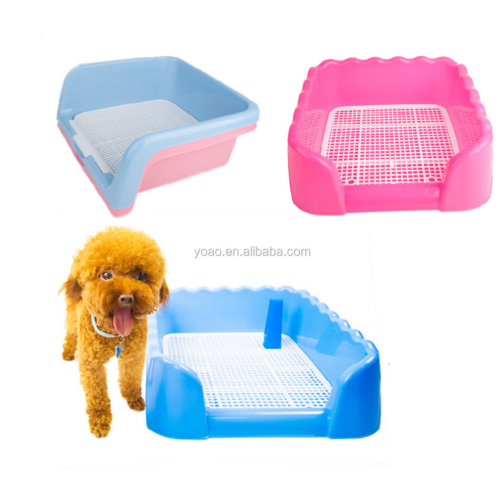 S Size Indoor Dog Puppy Plastic Potty Training Fence Tray Pad Pet Pee Toilet