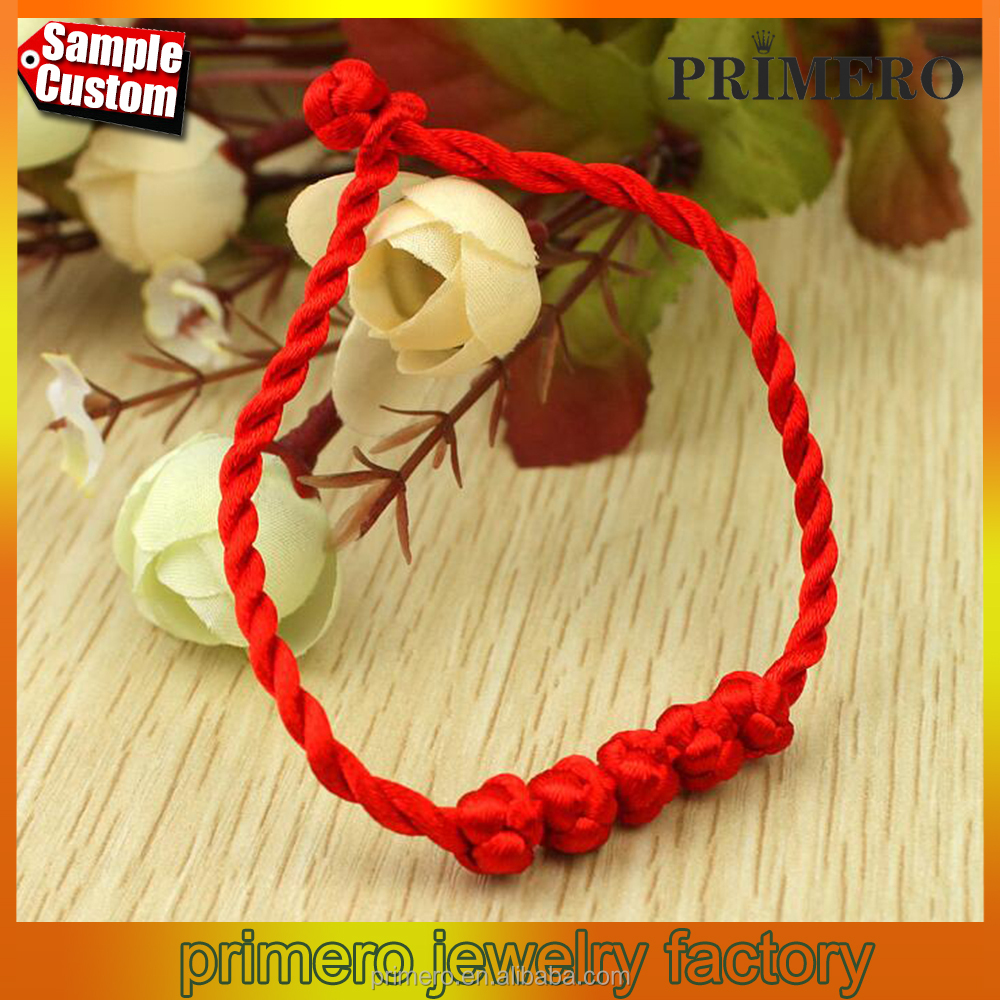 New Fashion Chinese style men women unisex braided lucky knots red string handmade weaving bracelet