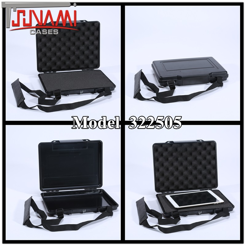 Hard ABS Plastic tool case/mini ipad carrying case / waterproof laptop case