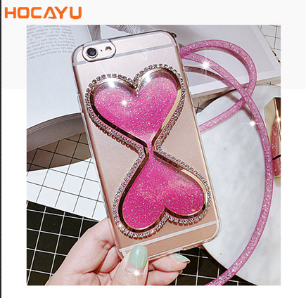 Wholesale 3D Liquid Glitter Quicksand Silicone Cell Phone Case Cover For Iphone 8 8 Plus