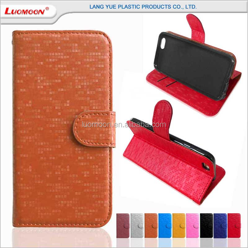wallet style diamond pattern stand leather flip case cover for samsung galaxy core 2 s5 active mini s5570