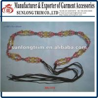 Hand-made plastic beaded belt