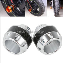 Brand NEW Silver CNC Frame Sliders Crash Protector For Yamaha Moped Scooter