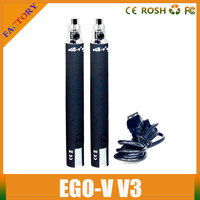 Newest EGO-V V3 Battery E Cigarette Battery 3.0~6.0V Adjustment Variable Voltage with LCD Screen 1300mAh for eGo 510 Clearomizer