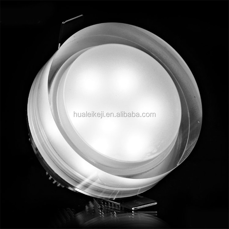 LED Crystal downlight round/square 1W 3W 5W 7W LED Ceiling spot light Warm White /White LED Recessed lamp for home decoration
