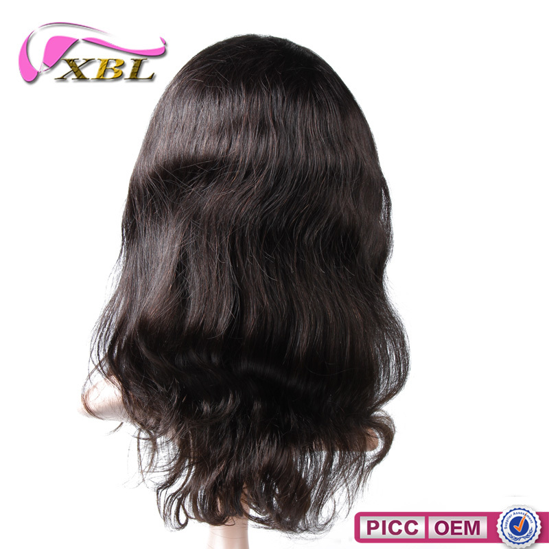 100% raw virgin full cuticle human hair lace wig high density Peruvian