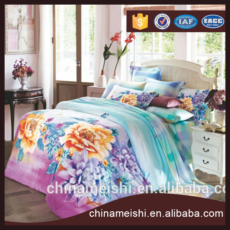 Hot design home use comfortable sheeting, duvet cover set, bed linen