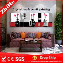 oil painting of decoration home with ceramic flower pot painting designs for room