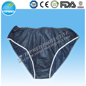 disposable paper massage pants underwear for spa travel hotel hospital