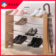 Multilayer Extendable Wooden Folding Shoe Rack
