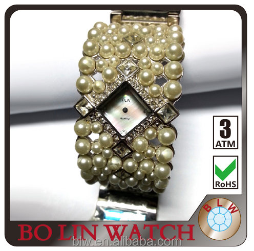 advance technology produce3ATM waterproof square dial white luxury bracelet watch diamond watch japan movement ladies watch
