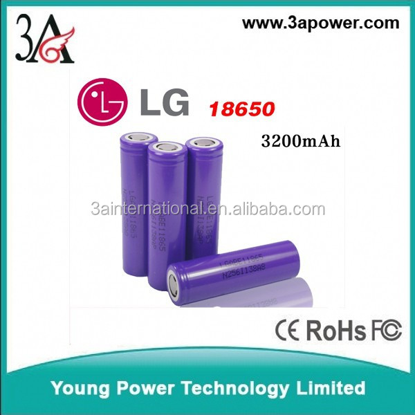 li-ion battery cells LG 18650 E1 3200mah 3.7v Rechargeable Batteries
