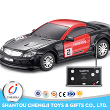Hot selling mini racing remote control toys 1 43 diecast model cars with light