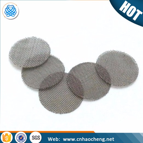 Stainless steel brass titanium 60 mesh woven smoking pipe screen