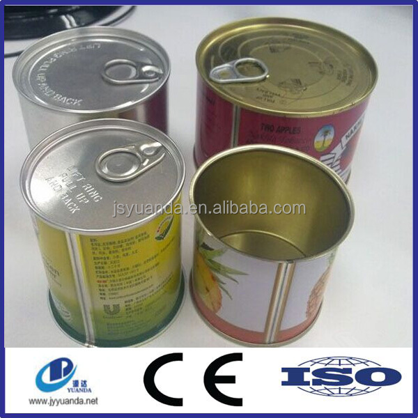 Printed Round/ Rectangular Metal Can / Food Grade Tin Can with Easy Open Lid