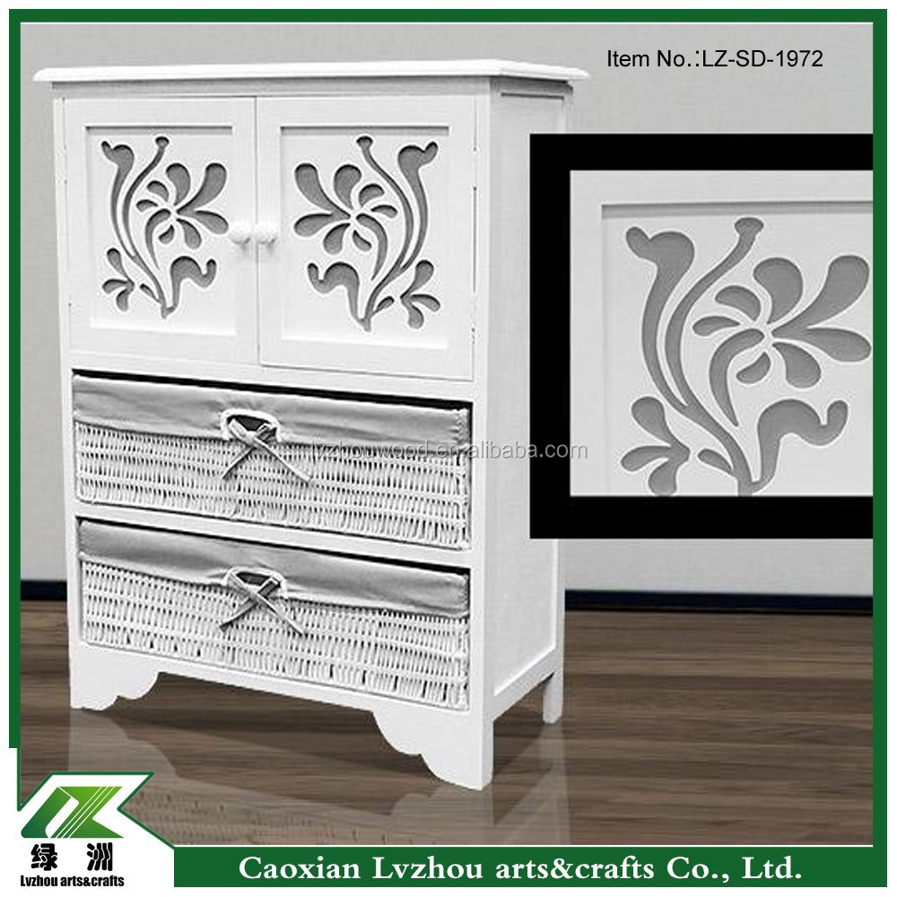 modern wooden cabinetwith flower carving doors/ living room furniture /european style wood storage cabinet with drawers