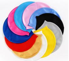 hot sale waterproof and breathe freely silicone swimming cap for long hair