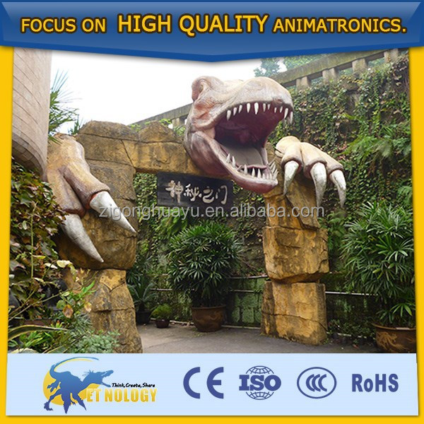 dinosaur head, Jurassic jungle decoration,life size animal sculpture
