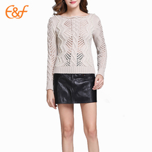 Design Of Crochet Hand Knitted Sweater With Pearls
