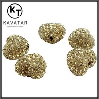 Beautiful bright gold wholesale jewelry beads