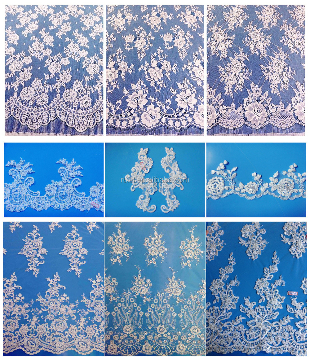 Latest African French Lace Fabric for Wedding Dress
