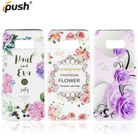 New arrival Flower Print Soft TPU Gel Protective Back Case Cover for Samsung galaxy s8 plus, for S8 plus back case