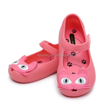 KS30500A hot sale kids girls cute cat pattern minnie sandals candy color jelly shoes kids