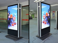 "32"" inch floor stand double sided LCD display AD totem kiosk billboard signage"