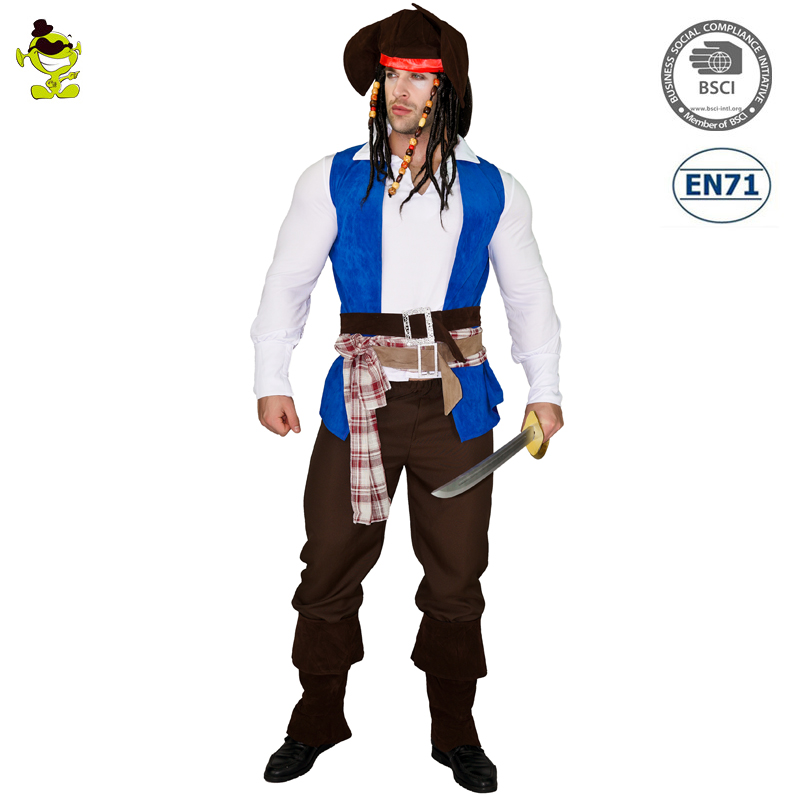 Adult halloween costume luxury Pirate Characters for man role play cosplay costumes