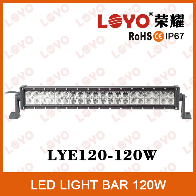 Auto spare parts off road led light bar 21.5 inch 4x4 Light Bar for SUV 12V 120W led offroad lights