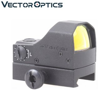 Vector Optics Fury 1x Compact Mini Reflex Red Dot Sight 0.5m Water Shock Resistance with Weaver Base fit 12GA .223 .308